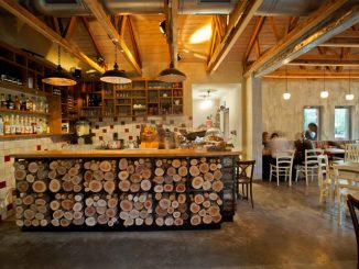 Restaurant interieur in vintage industrial design